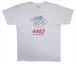4463ロゴ. T-shirt/ホワイト