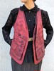 (TOYO) embroidery metallic vest
