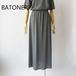 BATONER/バトナー・Washable Wool Skirt