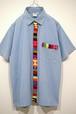 グアテマラ手織り帯S/Sシャツ 表記(M/L)