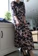 Vintage flower maxi dress