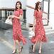 【dress】大人らしい 気質溢れる 着痩せ不規則 イレギュラー花柄ワンピース