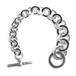 Hermès Collector Vintage Sterling Silver Chain Link Toggle Bracelet