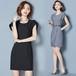 タイトワンピース デザイン袖 レディース ファッション 上品 シンプル オフィス OLスタイル お呼ばれ 女子会 二次会(A867)