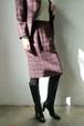 Yves Saint Laurent check skirt
