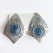 silver & blue earring[e-824]