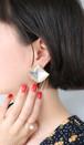 dead stock square earrings