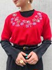 (PAL) flower embroidery knit