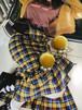 ベロア&yellowピアス