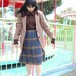 90's Pleated wool skirt プリーツスカート タータンチェック柄