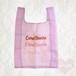 オーガンジー エコバッグ ピンクパープル ショッピングバッグ