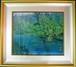 高橋新三郎 日本画 8号 「猪苗代湖」