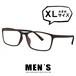 メガネ メンズ ビックサイズ XLサイズ 5616-6 ウェリントン 超軽量 ウルテム 眼鏡 大きめ 大きい venus×2