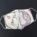 纏向遺跡アート手ぬぐいで作った立体マスク(木製仮面&弧文円板)