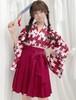 9928コスプレ衣装 和風 レトロ 着物 ミニスカート
