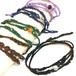 一粒天然石のマクラメ編みラップブレス/鼓動