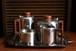 ステンレス製 ティー・コーヒーポットセット トレイ付き 5点セット イギリス