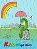 釣りステッカー 「Rain stops soon」