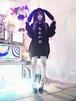 月の兎ビックパーカー/HOMELESSPARTY.魔法都市東京××神様ごっこ