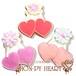【期間限定セール360円】さくらんぼのアイシングクッキー SHON-PY HEART 結婚式プチギフト