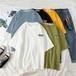 原宿系ストリート系カジュアルラウンドネック半袖オシャレトレンドコージーTシャツ