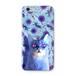 青い花と青い猫 スマホケース(ハードケース全面プリント)