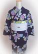 【レース&ベロア】浴衣用半幅帯4m