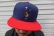 SNAPBACK CAP (NAVY/RED)