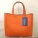 Fake Leather Mini Tote [Orange]