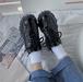 レディース スニーカー オールシーズン ダッドスニーカー グリッター キラキラ モノトーン レースアップ 厚底 ローカット ハイソール インソール 黒 ブラック 合皮 エナメル 目立つ カジュアル 脚長 歩きやすい 通勤 通学 学生 韓国