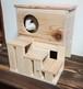 天然無垢材の子うさぎ、モルモット等の小動物のお家と階段のセット