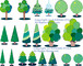 樹木のパーツ 01_aiデータ(ベクターデータ)