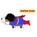 Superwanステッカー【バーニーズ】 犬 ステッカー シール