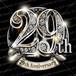 29周年PSD素材 エンブレム仕様。豪華でキラキラPhotoshop素材で周年を彩ろう!