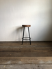 数量限定 WS-H600 椅子 イス ハイスツール アイアン チェアー 無垢材 カウンターチェアー スツール オーダーメイド