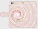 パステル渦巻 ピンク 可愛い手帳型スマホケース