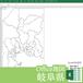 岐阜県のOffice地図【自動色塗り機能付き】