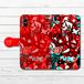 #070-007 手帳型iPhoneケース 手帳型スマホケース 全機種対応 iPhoneX ロック かわいい Xperia iPhone5/6/6s/7/8 ARROWS AQUOS パンク 可愛い Galaxy HUAWEI Zenfone タイトル:赤い救世主 作:プラネ