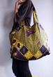 アフリカ柄の大きなエコバッグ <Purple>  送料無料