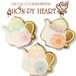 【期間限定セール360円】ポットのアイシングクッキー SHON-PY HEART 結婚式プチギフト