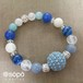 【new!】067. power stone jewelry bracelet -blue-