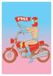 《JUN OSON イラストポストカード》CJ-7/ FREE