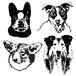 シルエットタッチイラスト/犬猫、ペットうちの子似顔絵