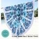 chuchka チャチュカ ラウンドビーチタオル Classic Bondi Blue