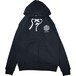 Small Magic Circle Lace Hooded Sweatshirt (Black)