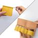 きはだ染め革のキー&スマートキーケース【zlat/ずらっと】#縦入れ小さめタイプ #草木染めレザー #手縫い #オリジナルの1文字刻印可