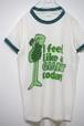 1970's Velva Sheen グリーンジャイアント 染込みプリントリンガーTシャツ 表記(S) ベルバシーン