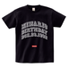 minario / COLLEGE BIRTHDAY LOGO T-SHIRT BLACK