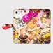 ▪️抽選販売 10名様 10月25日17時締切 ▪️お持ちの携帯の機種で制作 手帳型スマホケース Kane Dennis × Atelier Lapinus コラボ ウィンクポップコーン 手帳型スマホケース