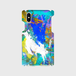 【iPhoneスマホケース側表面印刷】overlap-acrylicpaint02(ブルーライトブルーイエロー)